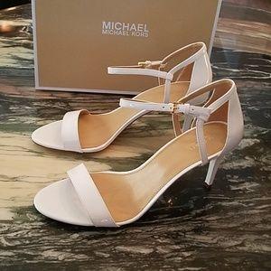 MICHAEL Michael Kors Simone Mid White Sandals